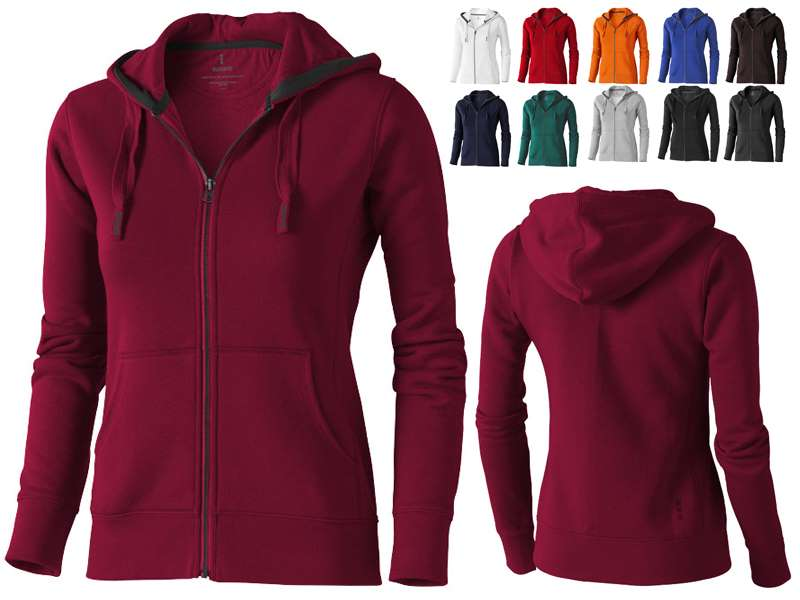 Full zip hooded dames sweater - IMG9