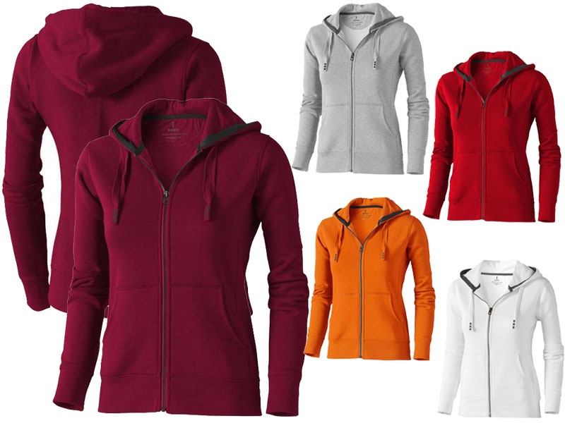 Full zip hooded dames sweater - IMGa