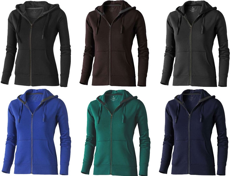 Full zip hooded dames sweater - IMGb