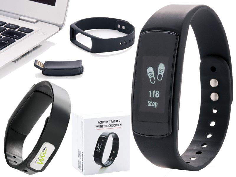 Activity tracker met touchscreen