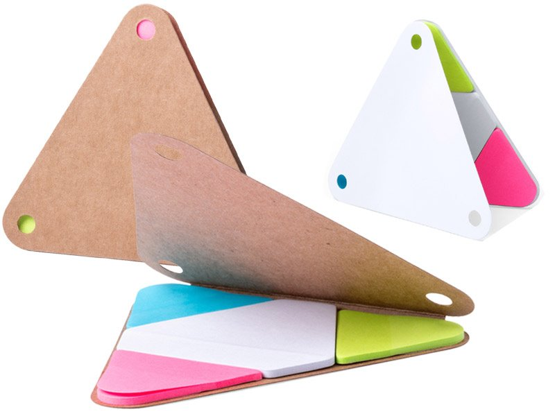 Memoblok met sticky notes, gerecycleerd karton